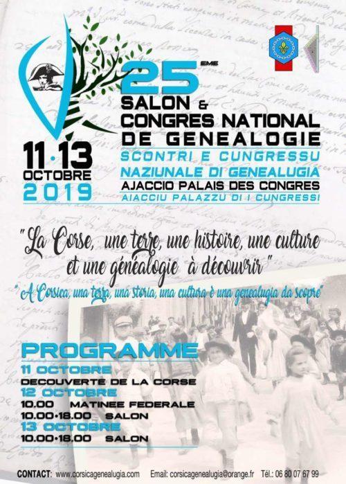 congrès de généalogie d'Ajaccio