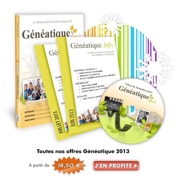 Jusqu'à -60% sur Généatique 2012