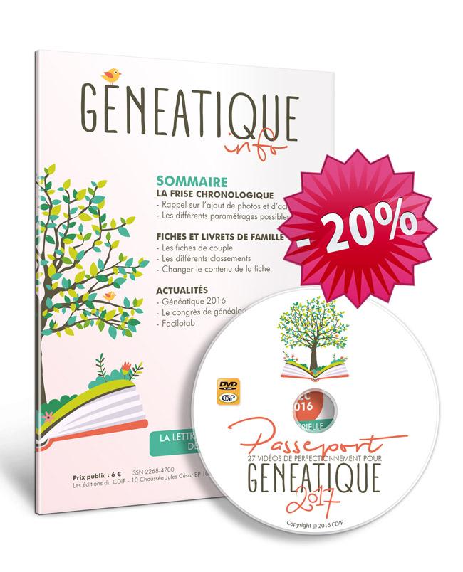offre généatique info + passeport généatique