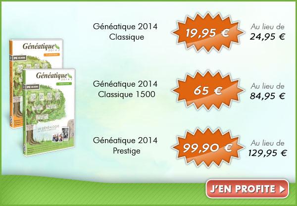 Nos offres sur Généatique 2014 à l'occasion du mois de la généalogie