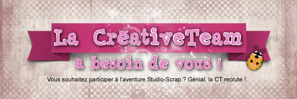 La Créative Team à besoin de vous !