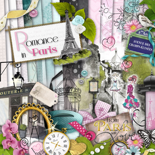 Romance in paris is our new kit digital scrapbooking blog - Boutique scrapbooking paris ...