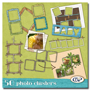 pack of 50 photo clusters