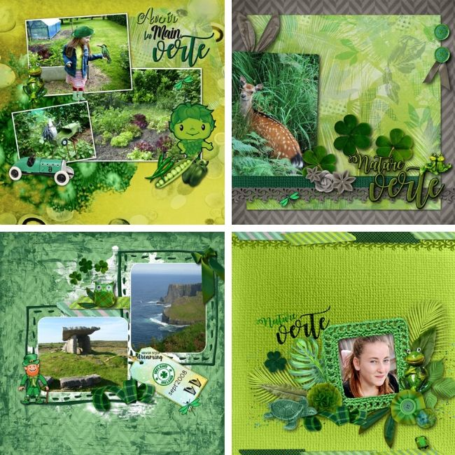 kit Incroyable vert les compos digiscrap