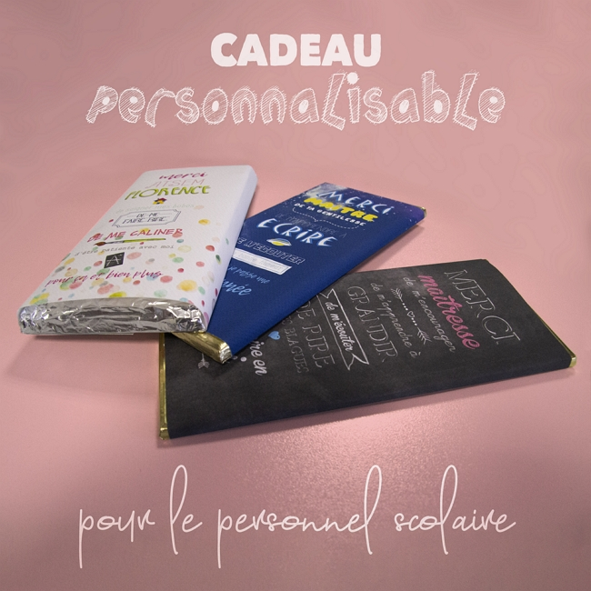DIY facile cadeau tablette chocolat personnalisable
