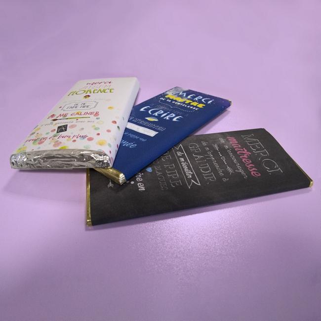DIY rapide étiquettes tablettes de chocolat